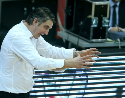 29.02.2016., Zagreb - ABA liga, 24. kolo, KK Cibona - KK Crvena zvezda Telekom. Trener Cibone Damir Mulaomerovic.  Photo: Goran Stanzl/PIXSELL