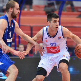 31.01.2016., KC Drazen Petrovic, Zagreb - ABA liga, 22. kolo, KK Cibona - KK Sutjeska. Nik Slavica. Photo: Marko Prpic/PIXSELL