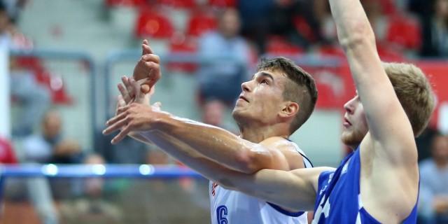 04.10.2015., KC Drazen Petrovic, Zagreb - 02. kolo ABA lige, KK Cibona - KK Tajfun Sentjur. Josip Kruslin. Photo: Slavko Midzor/PIXSELL